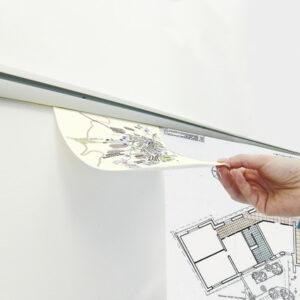 bianrio per appendere fogli a parete