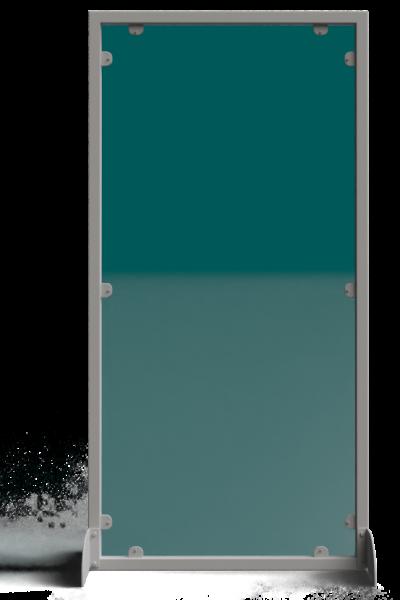 divisorio con telaio in acciaio